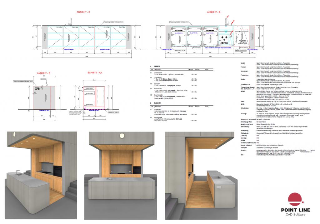 PointLineCAD: Tekenprogramma voor de Interieurbouw